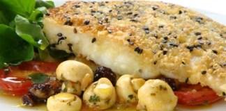 Receita de Tilapia com Quinoa e Gergilim