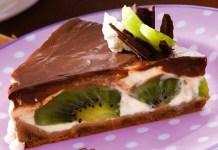 Receita de Torta de chocolate com kiwi