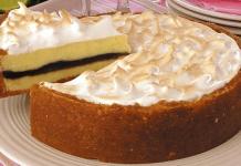 Receita de Torta de limão com recheio de chocolate