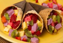 Receita de Casquinha de Frutas com Gelatina