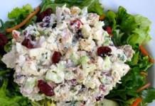 Receita de Salada de Frango com Uvas
