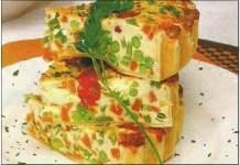 Receita de Tortilha de Legumes