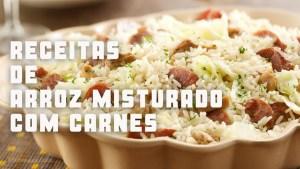 receitas da tv de arroz misturado com carnes