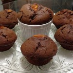 muffin de chocolate com damasco