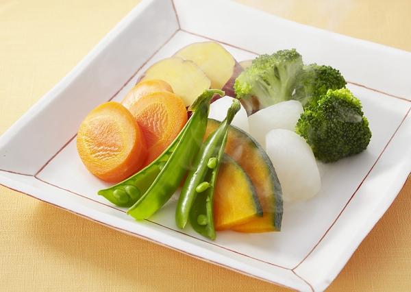 Legumes no vapor sem panela de vapor