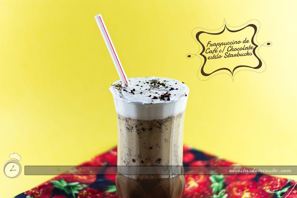 Frappuccino de café com choclate starbucks