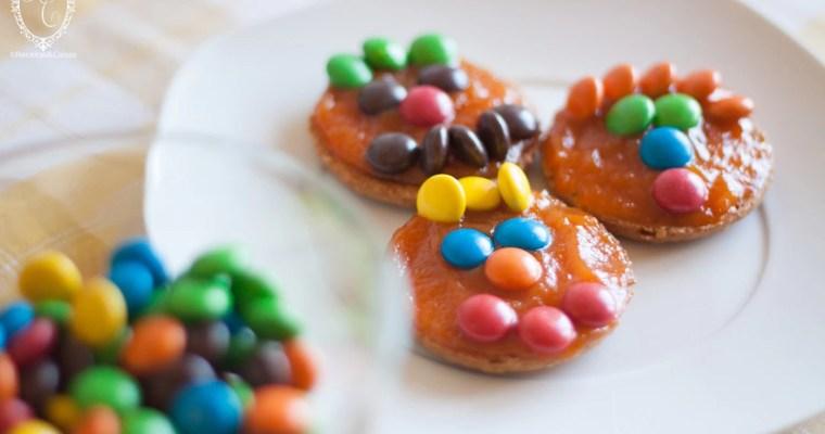Biscoitos com cara de abóbora