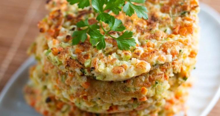 Panquecas de legumes sem glúten