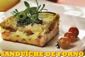 sanduiche de forno