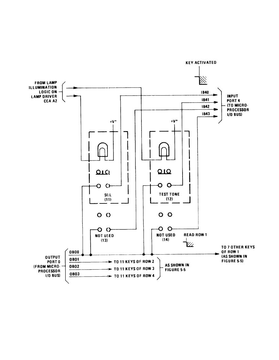 hight resolution of keyboard circuit simplified schematic diagram
