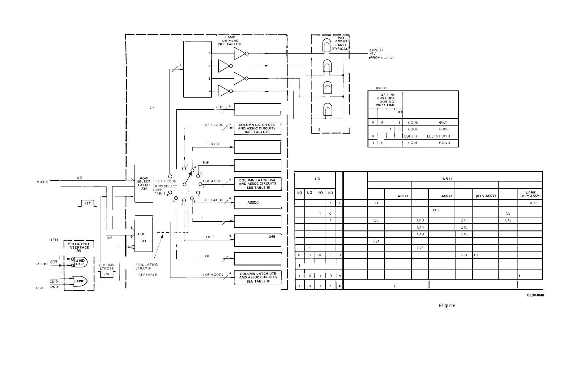 Figure FO-8. Keyboard Lamp Illumination Circuits