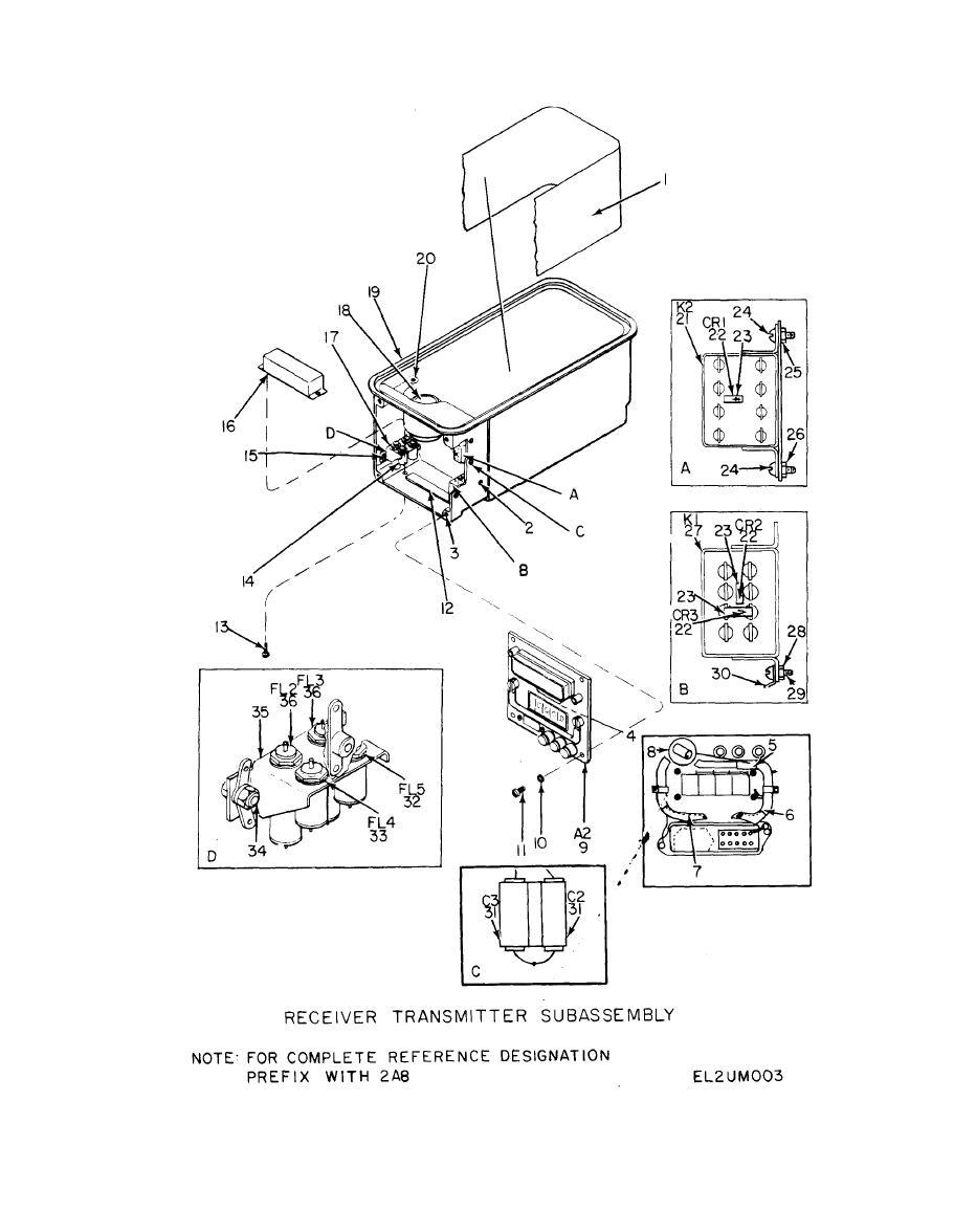 Figure 5. C a s e , Transponder (Sheet 1 of 2 ) .