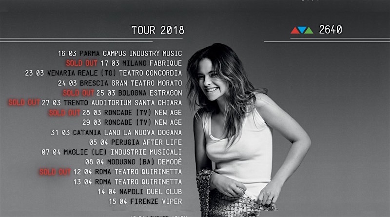 Francesca Michielin, canzoni in scaletta e date del tour 2018