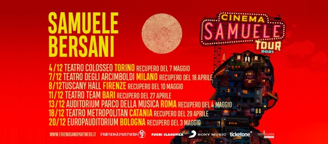 Samuele Bersani tour concerti 2021