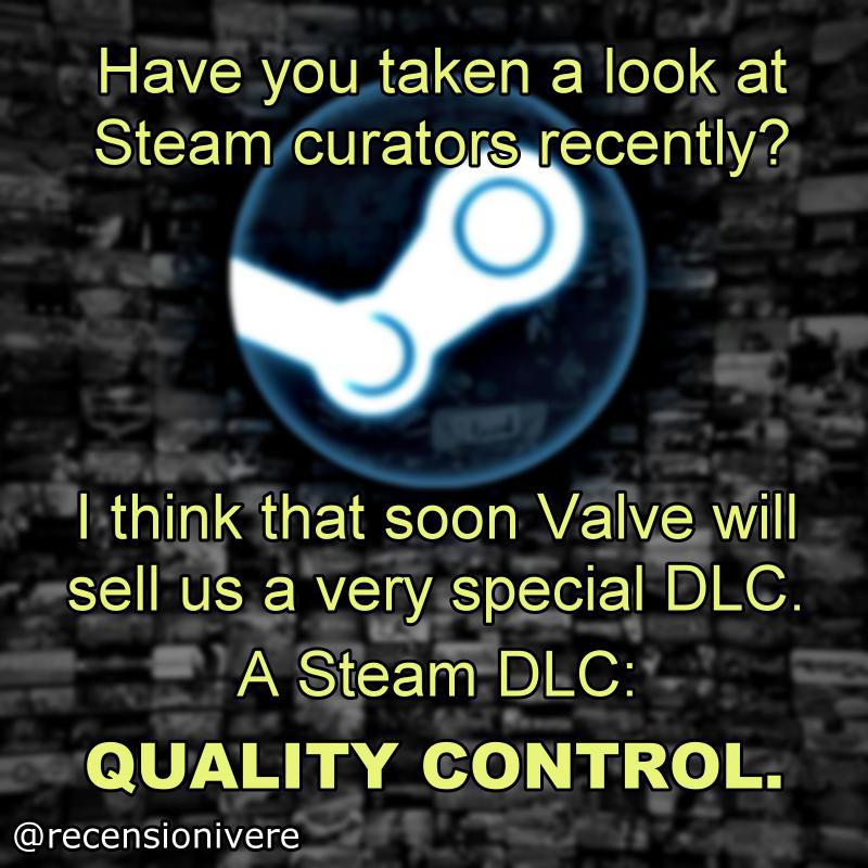 Steam curator meme