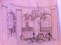 First draft interior rendering for client in Alpharetta