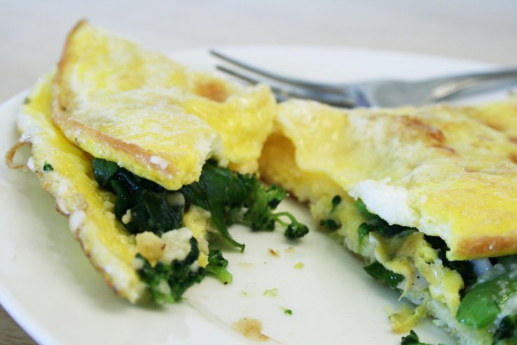 Broccoli and Cheese Omelet