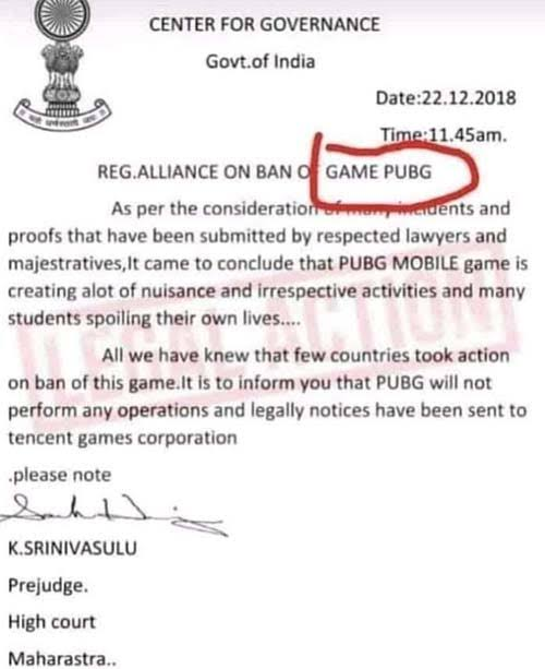 Notice by the government