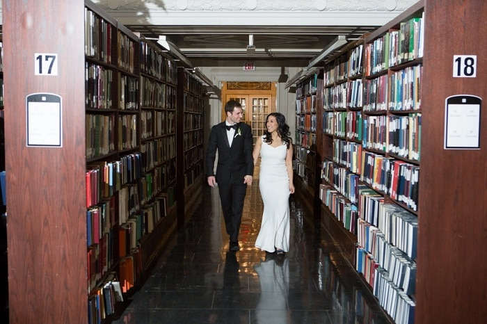 wedding at library