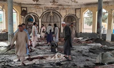 At least 100 killed or wounded in Afghan mosque blast, Taliban official says