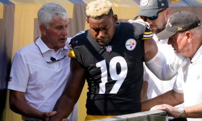 Steelers' JuJu Smith-Schuster out with shoulder injury in Broncos game