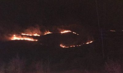 Fire on South Table Mountain sparks Monday morning