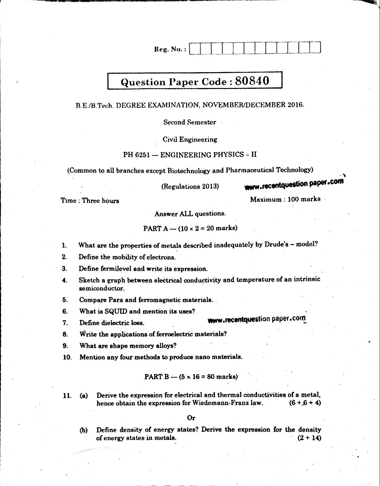 Anna University Computer Aided Design Question Papers