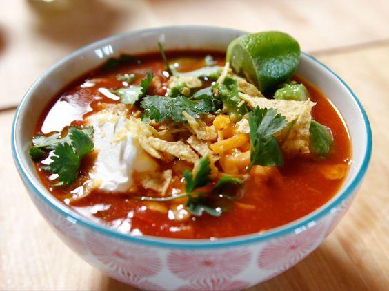 mexikói csirkeleves tortillával recept