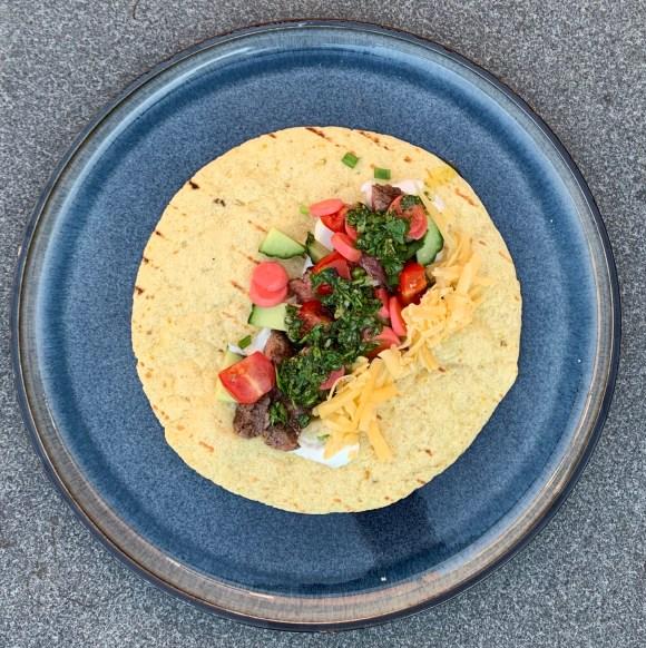 Wraps met ribeye en chimichurri