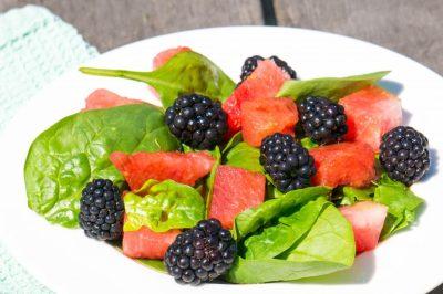 Watermeloen Bramen Salade recept | Buzz in the Kitchen