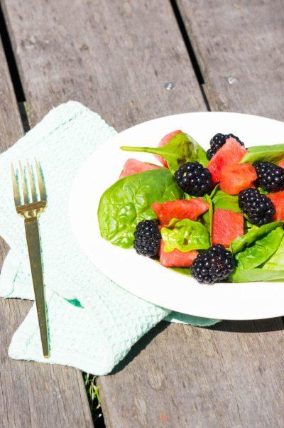 Watermeloen Bramen Salade side | Buzz in the Kitchen