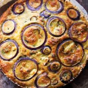 Пирог из цветной капусты с сыром