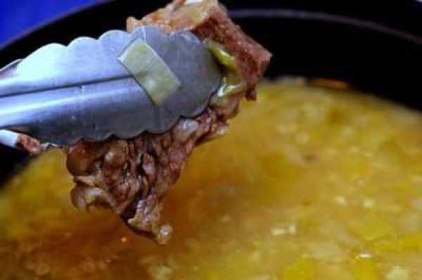 Суп из говядины и ячменя