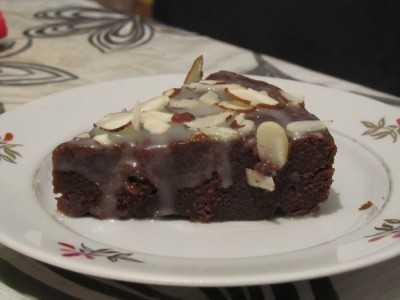 Шоколадный торт на пару