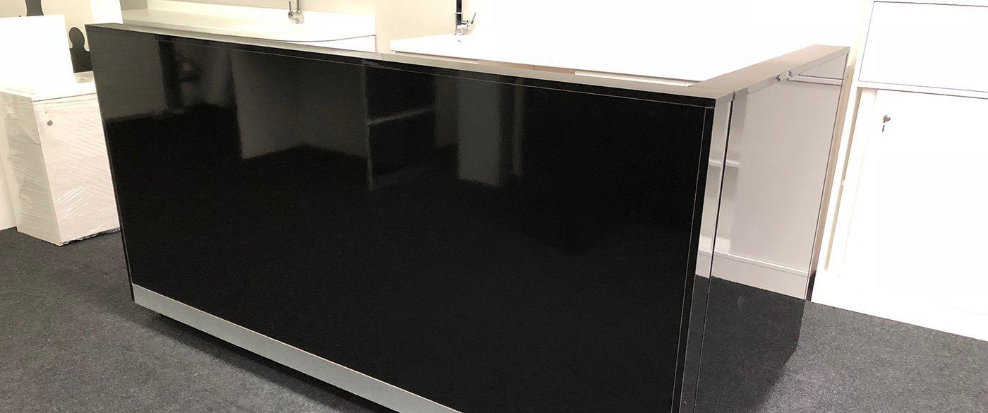Black HighGloss Reception Desk