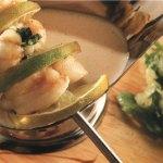 Кебаб из морского черта с подливкой из сердцевины ананаса