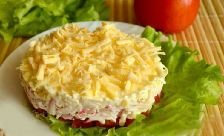 asiatische gebacken nachahmung krebsfleisch mit mayonnaise