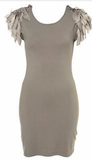 Feather Shoulder Dress -- $78