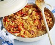 receta de pollo con chorizo