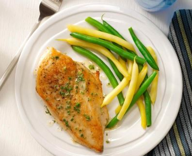 pollo con mantequilla de lima