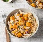 Pollo con calabaza asada al curry