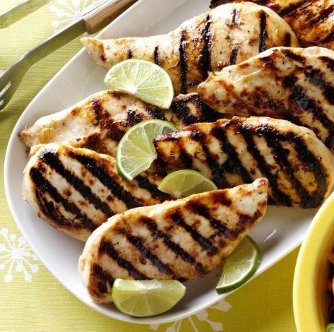 Pollo a la parrilla con miel y limón