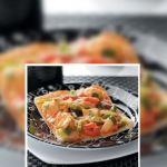 pizza de pollo al cilantro