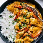 pollo al curry y leche de coco