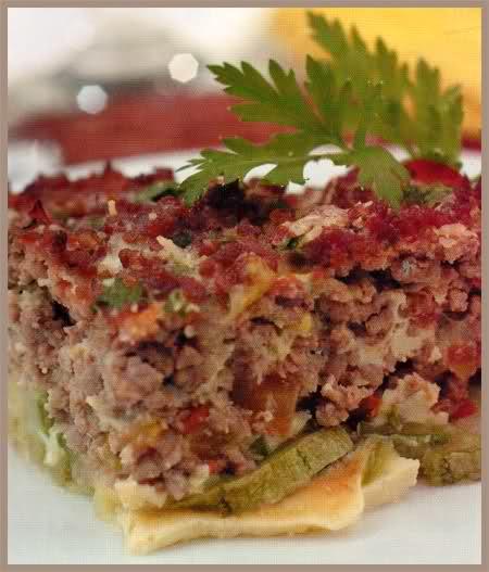 pastel de zucchini con carne