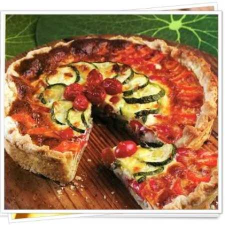 tarta de verduras del huerto