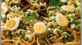 Ensalada de espaguetis a la romana