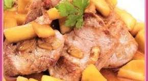 Solomillo de cerdo con manzanas reinetas