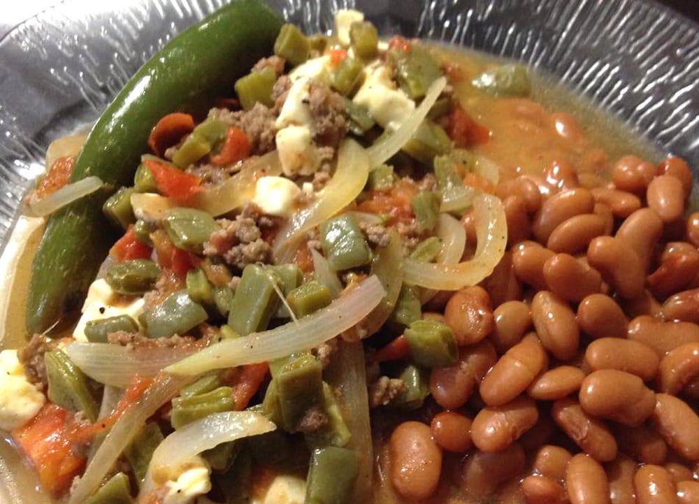 Carne molida con nopales  Recetas Mexicanas
