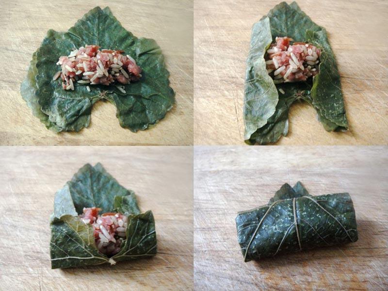 Relleno para hojas de parra Warak Inab o Warak Dawali